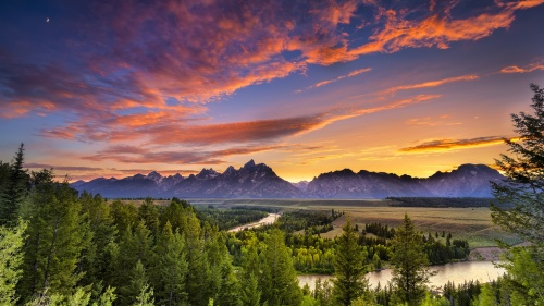 63. Sunset in Grand teton National Park