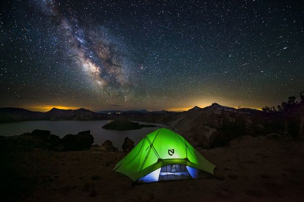66. Camping under Starry sky