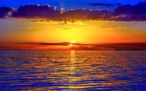 72. Sunset Cloud over ocean