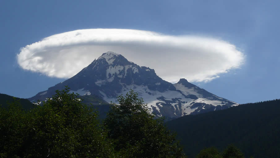 87. Lenticular cloud over Mt. Olympus